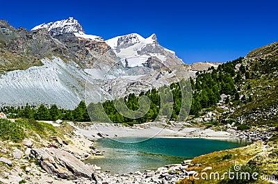 Grunsee Lake, Zermatt, Switzerland