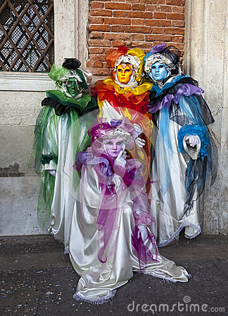 Grup of Disguised People Editorial Image