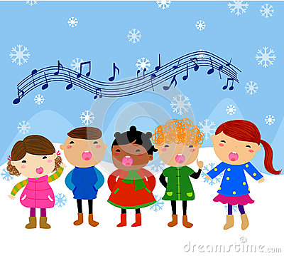 Grupa dzieci śpiewać