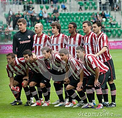Grupo atlético de Bilbao Foto de archivo editorial