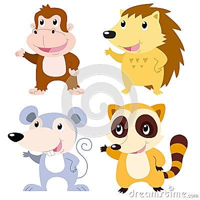 Grupo bonito do animal