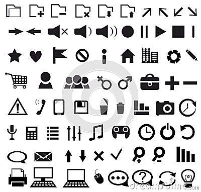 Grupo de ícone da Web