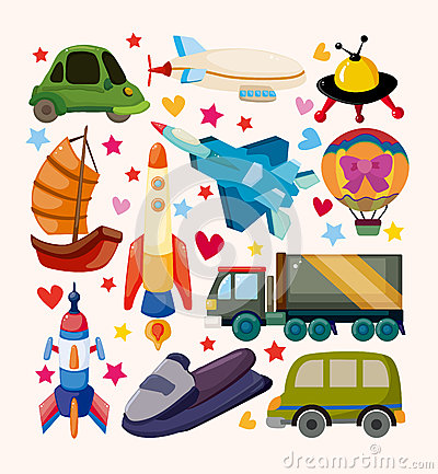 Grupo de ícones do transporte