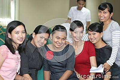 Grupo de equipe de funcionários