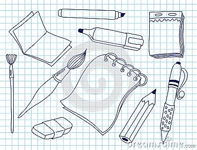 Grupo de ferramentas do escritório