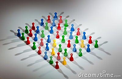 Grupo de figuras sociais da rede