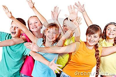 Grupo de gente adolescente.
