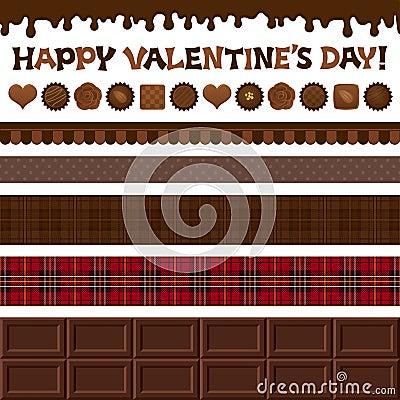 Grupo de ilustrações do dia de Valentim.