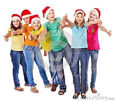 Grupo de povos adolescentes.
