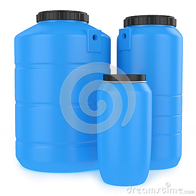 grupo de tanques de gua pl sticos fotos de stock royalty On estanques de agua plasticos