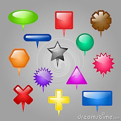 Grupo do vetor de elementos da Web.