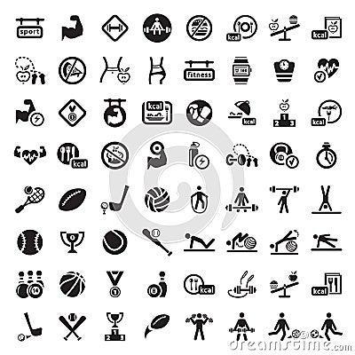 Grupo grande do ícone da aptidão