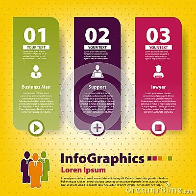 Grupo infographic em trabalhos de equipa