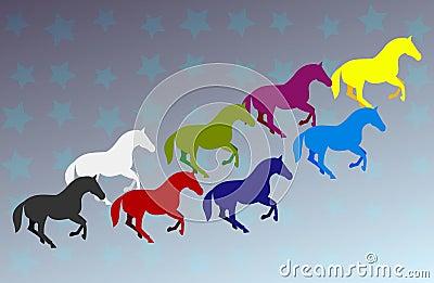 Grupowi konie
