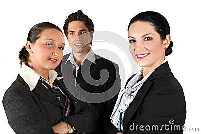 Grupp av affärsfolk
