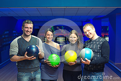 Vänner i en bowling