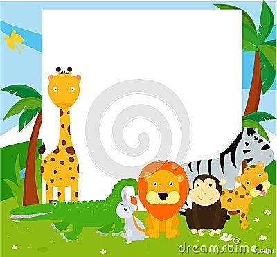 Gruppe Von Tieren Und Von Rahmen Stockfoto Bild 38423850