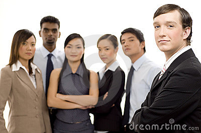 Gruppen-führender Vertreter der Wirtschaft 2