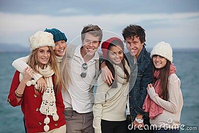 Gruppen-Teenager