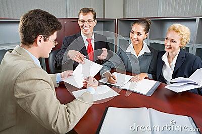 Gruppo di gente di affari