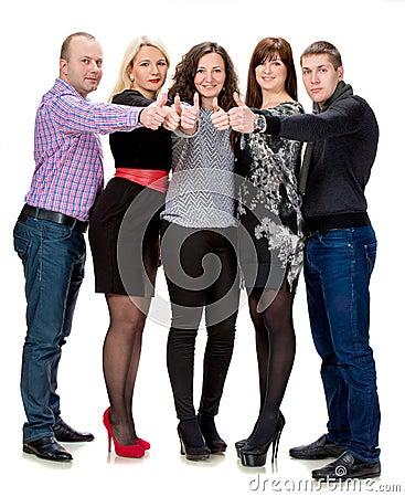 Gruppo di gente di affari felice