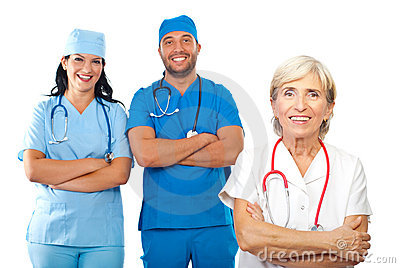 Gruppo di medici felice