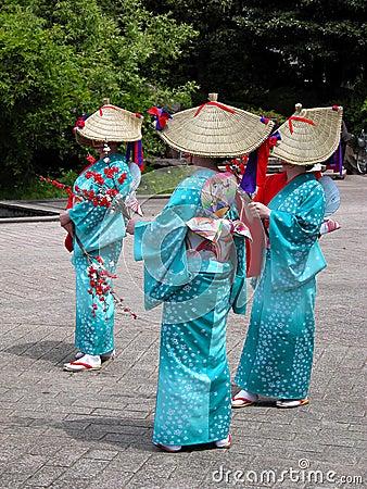 Gruppo giapponese delle donne Fotografia Editoriale