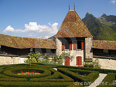 Gruyere Швейцария замока