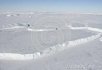 Góry lodowa płytkowe