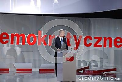 Grzegorz Napieralski, chairman SLD Editorial Stock Image