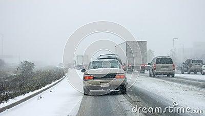 GTA First Snow Highway Mayhem Editorial Photo