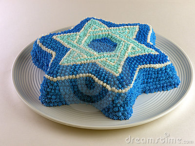 Gâteau avec Magen David (étoile de David)