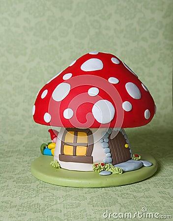 Gâteau d imagination de champignon de couche