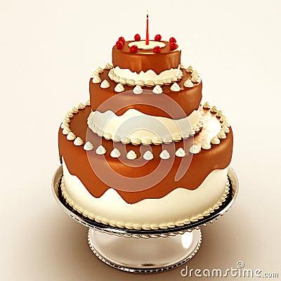 Gâteau de chocolat délicieux