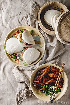 Free Gua Bao Buns With Pork Royalty Free Stock Photography - 119022447