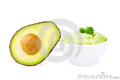 Guacamole and avocado