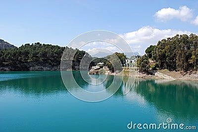 Guadalhorce Lake near Ardales, Spain.