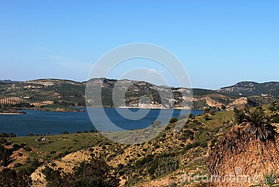 Guadalteba lake, Andalusia, Spain.