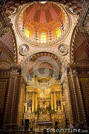 Guadalupita Church Altar Dome Mexico