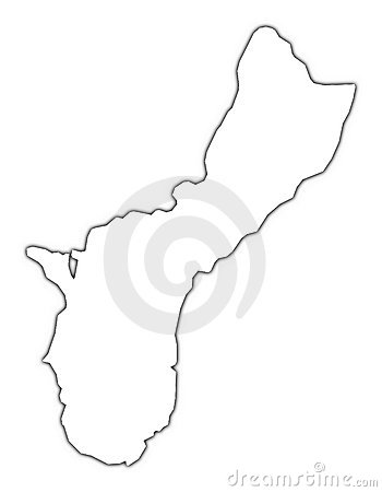 Guam outline map