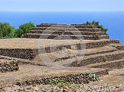 Guanches step pyramids de Guimar, Tenerife