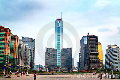Guangzhou city axis Editorial Photography