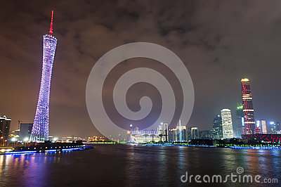 Guangzhou city night view