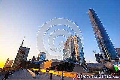 Guangzhou city Skyscraper in china Editorial Image