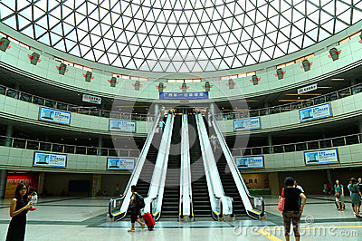 Guangzhou east metro station Editorial Stock Photo