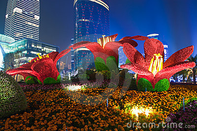 Beach Christmas Cards >> Guangzhou Flower City Plaza Editorial Photo - Image: 16983901