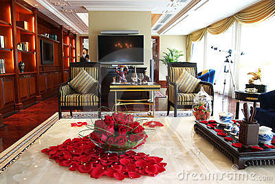 Sovrum orientalisk stil : Orientalisk stil för sovrum fotografering bildbyråer bild
