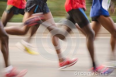 Guangzhou international marathon runner