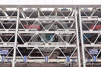 Guangzhou parking lots Editorial Photo