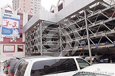 Guangzhou parking lots Editorial Stock Photo